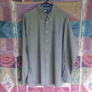 Long Sleeved Button Front Dress Shirt